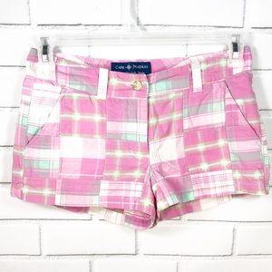 Cape Madras Pink Preppy Shorts Size 2